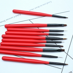 Cross-border for nailbrushes Redwood pole 10 sets of phototherapy crystal painting drawing line pen high quality brush