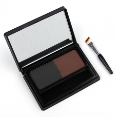 MENOW two-color eyebrow powder with eyebrow brush waterproof