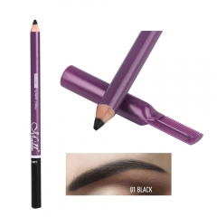 MENOW eyebrow pencil with eyebrow comb easy to color