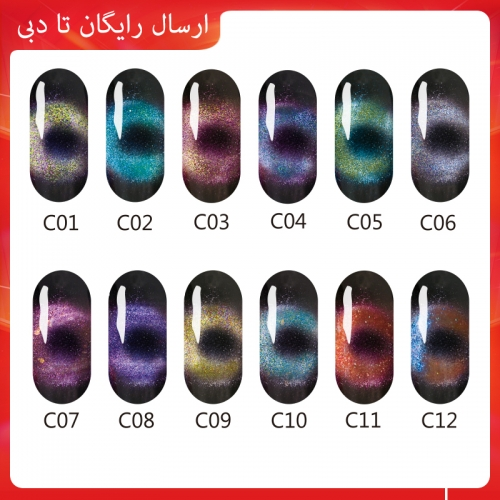 RoseMei Cat Eye Nail Gel 8020-MCE 15ml (Free Shipping to Dubai)