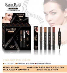 R606 double-headed eyebrow pencil